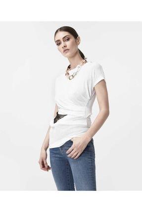İpekyol Kadın Beyaz Bel Detaylı Tshirt 2