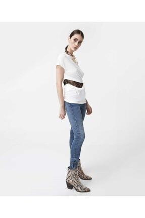 İpekyol Kadın Beyaz Bel Detaylı Tshirt 3