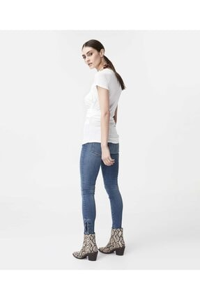 İpekyol Kadın Beyaz Bel Detaylı Tshirt 4