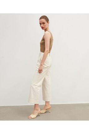 İpekyol Kadın Ekru Yüksek Bel Pantolon 2