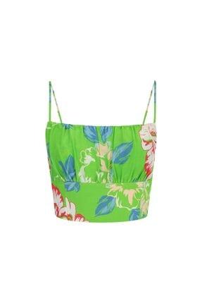 İpekyol Kadın Yeşil Çiçek Desen Büstiyer 3