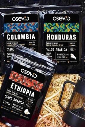 Osevio Dünya Kahveleri Hediye Kutusu 5 Ülke 5 Tat (french Press Hediyeli) 2