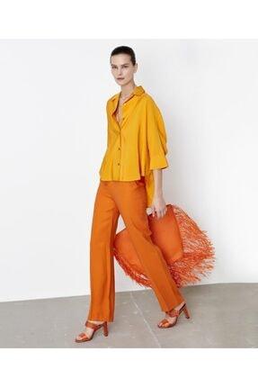 İpekyol Kadın Sarı Kuşaklı Over Size Gömlek 2