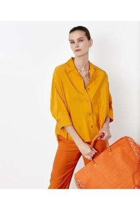 İpekyol Kadın Sarı Kuşaklı Over Size Gömlek 3