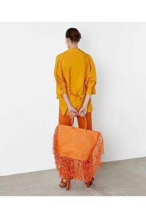 İpekyol Kadın Sarı Kuşaklı Over Size Gömlek 4
