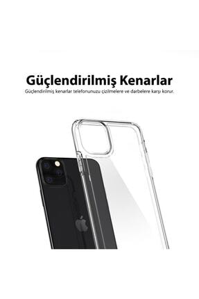 Mobilteam Apple Iphone 7 Kılıf Şeffaf Süper Silikon Kapak 4