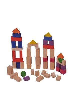BEMİ Ahşap Bloklar 50 Parça (ofset Kutu) 1