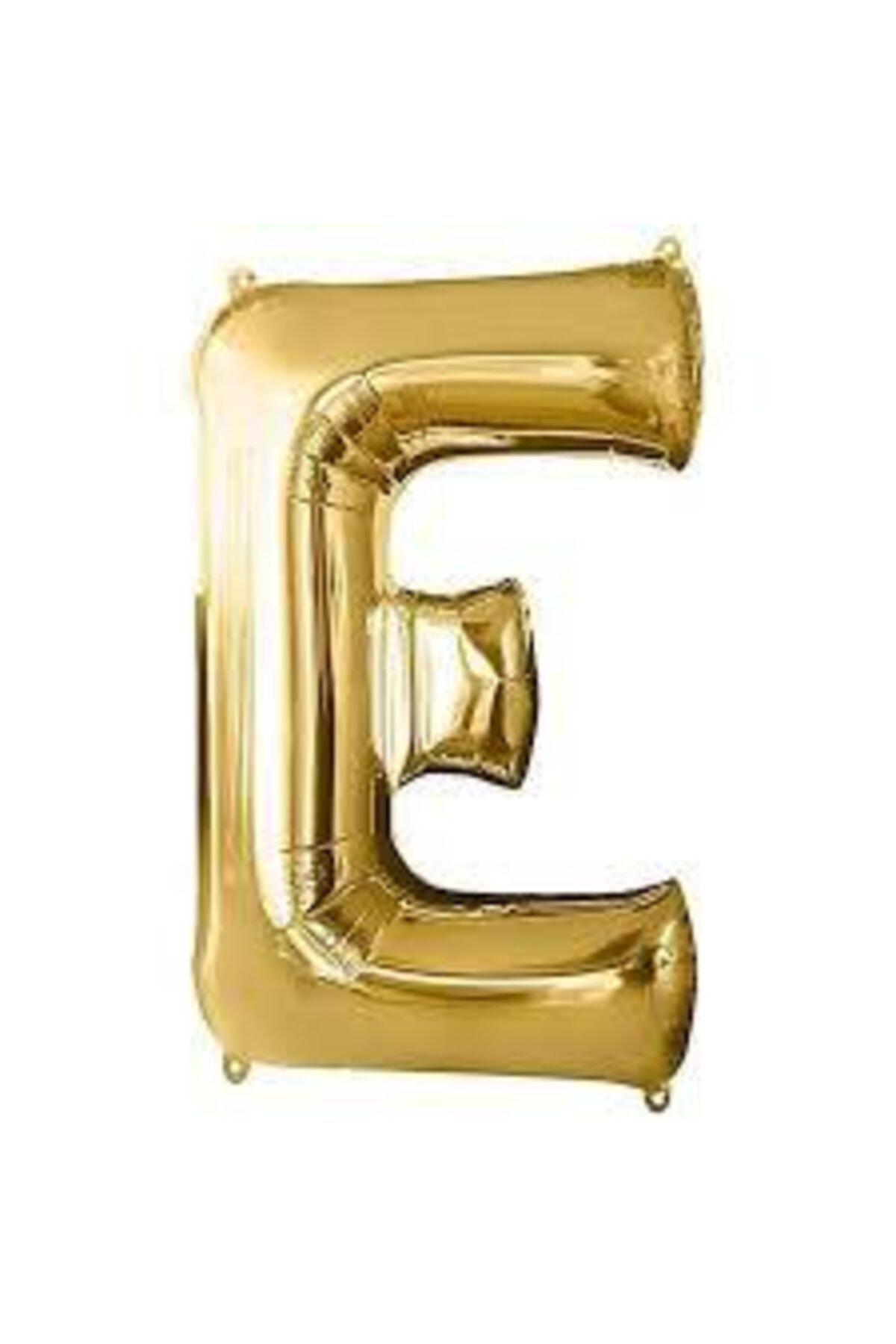 "16"" Inç 40 Cm Folyo Harf Balon Gold E"