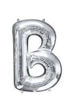 """Deniz Yıldızı Sanat 16"""" Inç 40 Cm Folyo Harf Balon Gümüş B 0"""