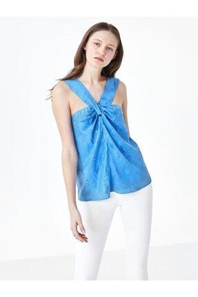 Twist Kadın Mavi Yaka Detaylı Bluz 0