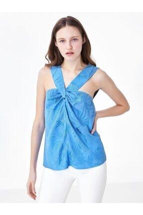 Twist Kadın Mavi Yaka Detaylı Bluz 2