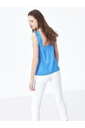 Twist Kadın Mavi Yaka Detaylı Bluz 3