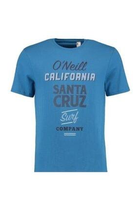 Erkek Mavi Baskılı Kısa Kol T-shirt resmi