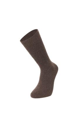 Mısırlı 3'lü Lambswool Dikişsiz Düz Kışlık Kalın Erkek Çorap 4
