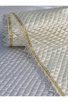 Kaizen Carpet Krem 60cmx10mt Rulo Gold Su Taşı Detaylı Deri Saten Lüks Kapitone Raf Çekmece Örtüsü-derinlik 60 Cm 4