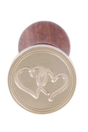 VK I Saplı Kalp Mühür 25mmx90mm. +1 Adet Kırmızı Mühür Mumu Hediye. Hece Kırtasiye 3