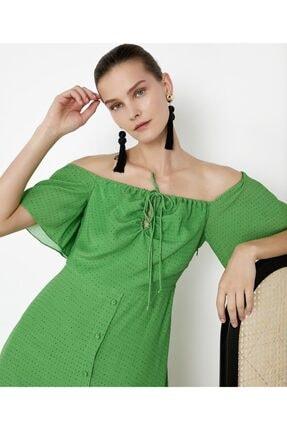 İpekyol Kadın Yeşil Puantiye Desen Elbise IS1200002421070 0