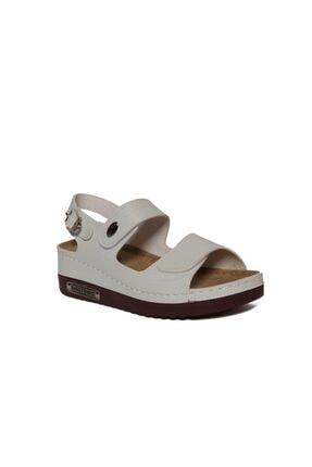 ROYJONES Kadın Beyaz Anotomık/ortopedik Sandalet Terlik 3014 0