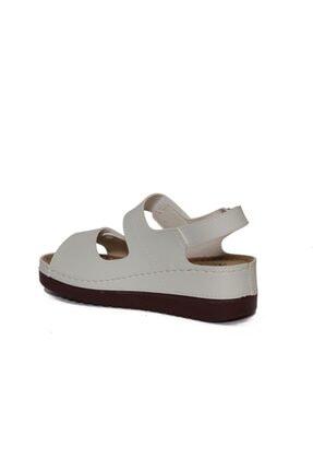 ROYJONES Kadın Beyaz Anotomık/ortopedik Sandalet Terlik 3014 2