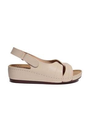 ROYJONES Kadın Bej Anotomık/ortopedik Sandalet Terlik 1817 0