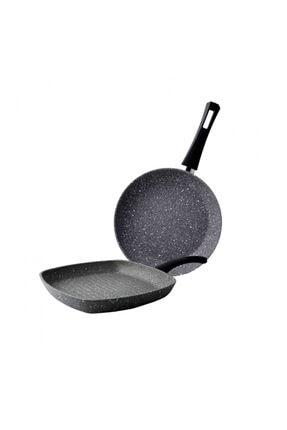 Karaca Gris Bio Granit Tava ve Grill Seti 0