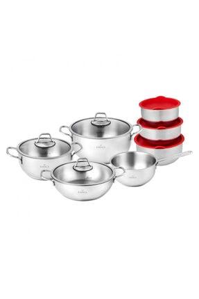 Karaca Pişir Sakla 13 Parça Çelik Set 1