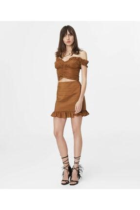 İpekyol Kadın Kahverengi Fırfır Şeritli Büstiyer 1