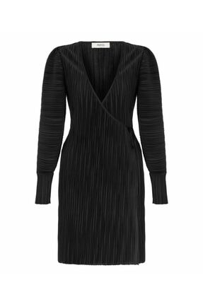 İpekyol Kadın Siyah Anvelop Elbise 4