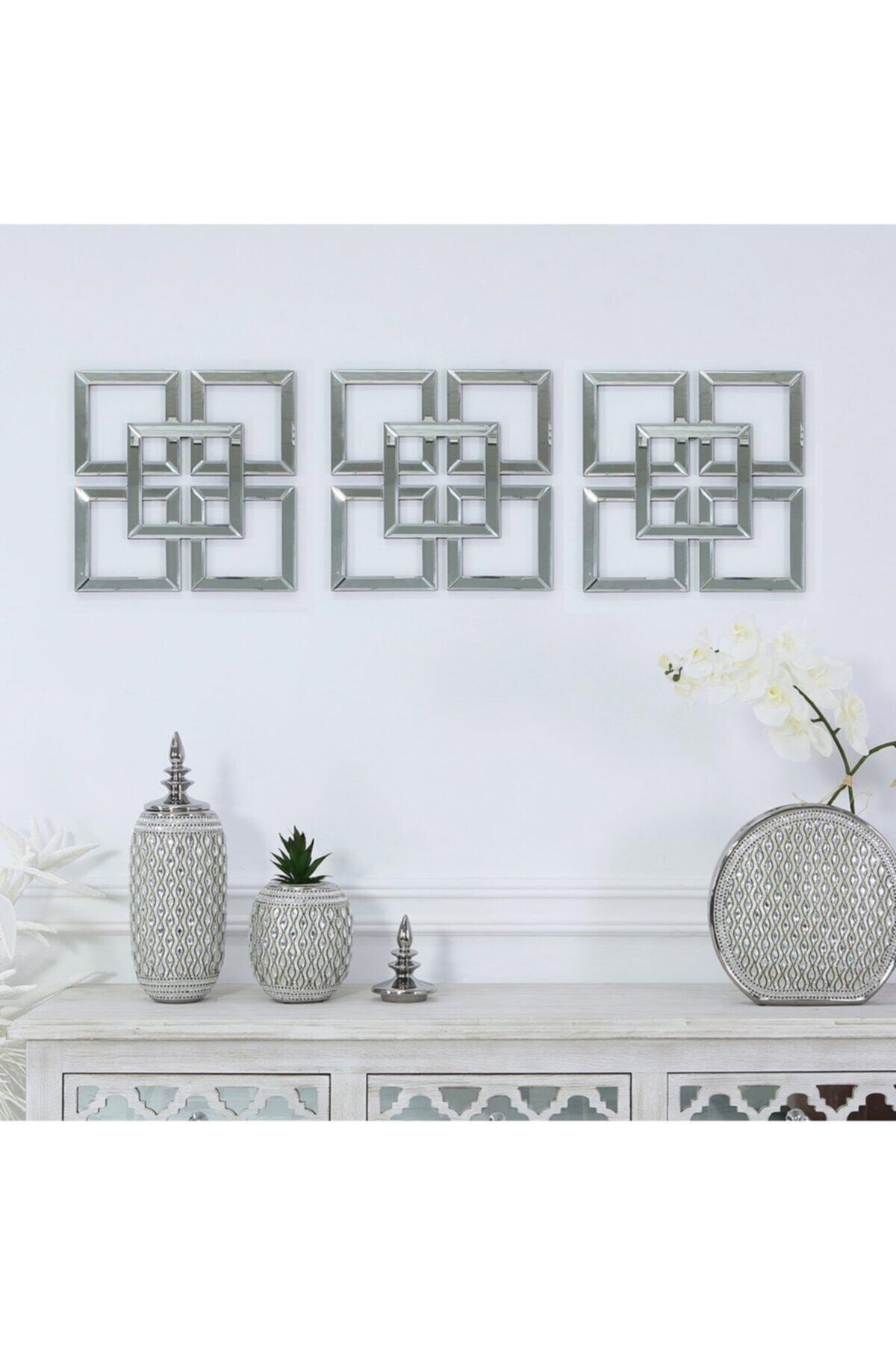 3 Lü Ayna Pleksi Dekoratif Set