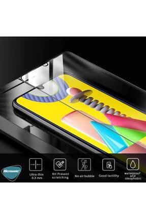 Microsonic Microsonic Galaxy M21 Tam Kaplayan Temperli Cam Ekran Koruyucu Siyah 3