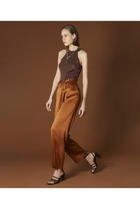 İpekyol Kadın Tarçın Kemerli Saten Pantolon 2