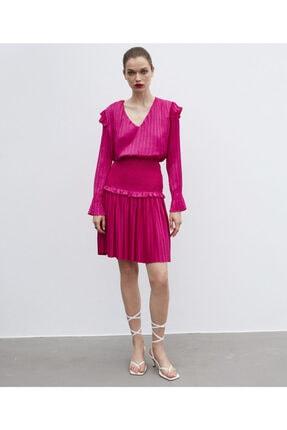 İpekyol Kadın Pembe Piliseli Bluz 1