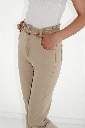 BURAKLİFE Kadın Beli Lastikli Boyfriend Pantolon 1