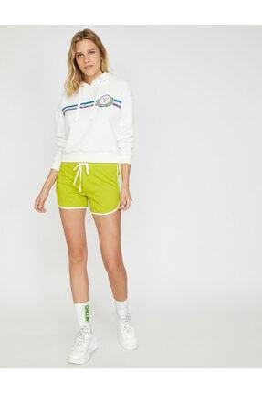 Koton Kadın Ekru Yazılı  Sweatshirt 1