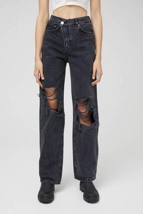 Pull & Bear Kadın Siyah Pantolon 1