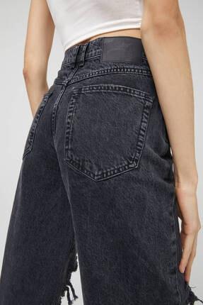 Pull & Bear Kadın Siyah Pantolon 2