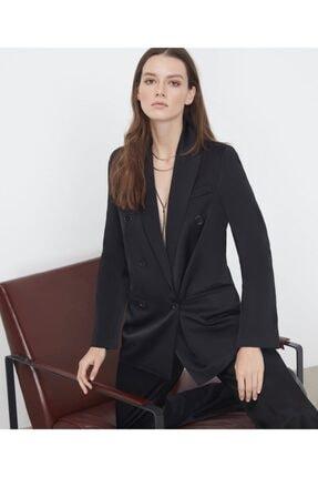 İpekyol Kadın  Siyah Saten Ceket 0