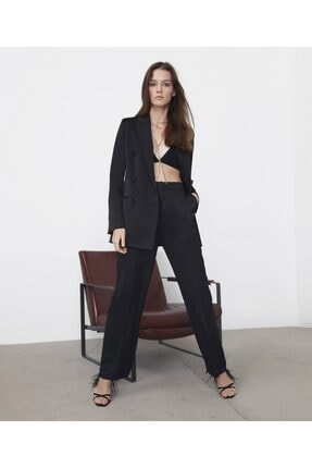 İpekyol Kadın  Siyah Saten Ceket 1