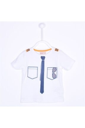 Sılversun Erkek Beyaz Bebek T Shirt 0