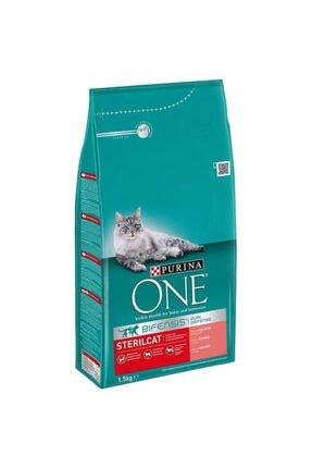 Purina One Somonlu Kısırlaştırılmış Kedi Maması 1,5 kg 0