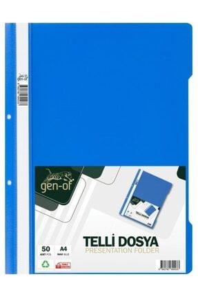 Gen-of Mavi Telli Dosya A4 50 Li Paket 0