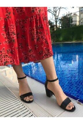 Kadın Siyah Topuklu Ayakkabı klasik topuklu ayakkabı 000006