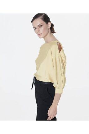 İpekyol Kadın Sarı Omuz Pencereli Bluz 2
