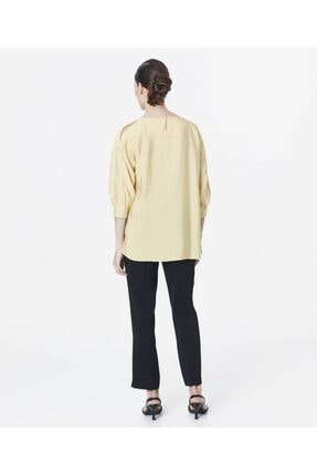 İpekyol Kadın Sarı Omuz Pencereli Bluz 3