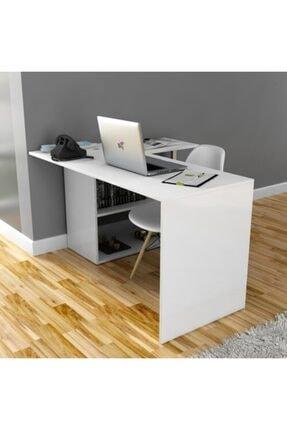 Kzy Mobilya Fonksiyonel Gelincik Çalışma Masası - Beyaz 1