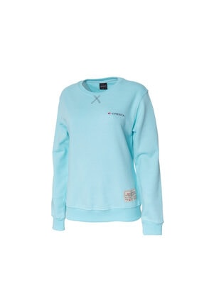 Cresta Kadın Turkuaz Outdoor Basic Sweatshirt 0