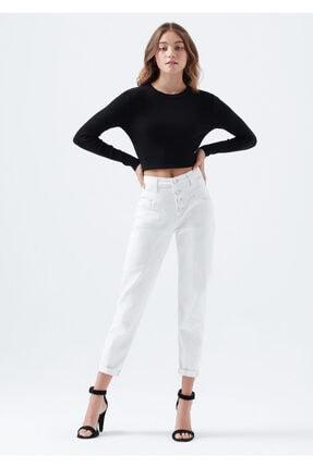 Mavi Kadın Lily Gold Icon Düğme Detaylı Beyaz Jean Pantolon 100991-31290 1