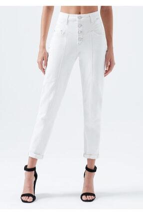 Mavi Kadın Lily Gold Icon Düğme Detaylı Beyaz Jean Pantolon 100991-31290 2