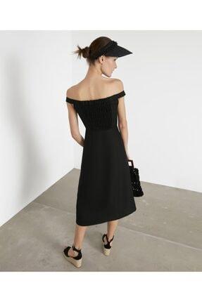 İpekyol Kadın Siyah Geniş Yaka Elbise IS1200002372001 4