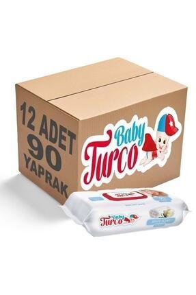 Baby Turco Beyaz Sabun Kokulu Islak Havlu 12x90 Lı 0